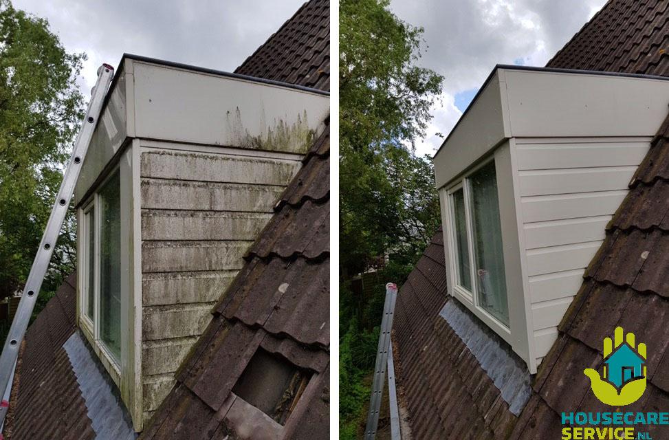 Voor en na dakkapel reinigen